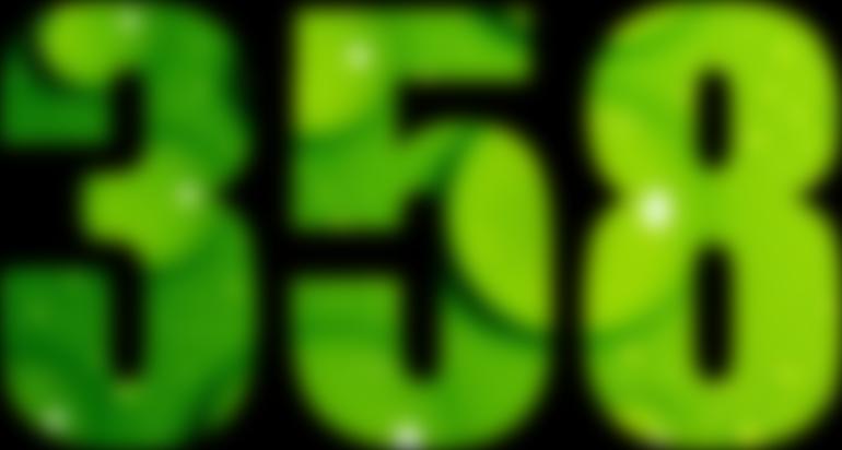 ... 358 — изображение числа триста пятьдесят восемь (картинка ...