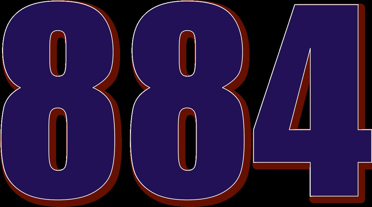 ... 884 — изображение числа восемьсот восемьдесят четыре (картинка ...